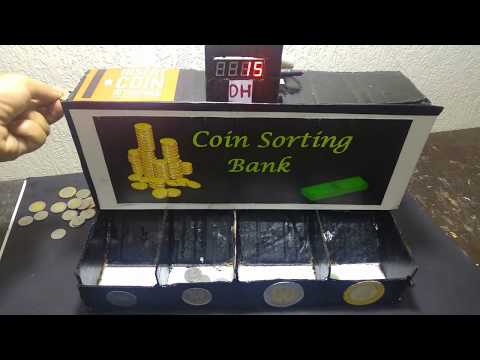 how to make arduino coin sorters and counters machine