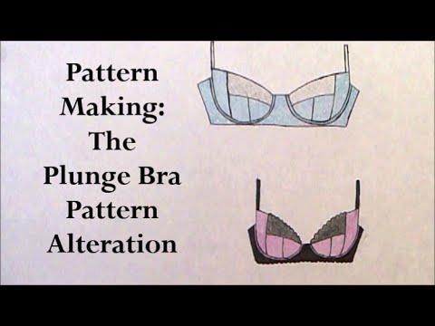 Pattern Making: The Plunge Bra pattern altering