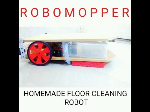 ROBOMOPPER : Simple  Homemade Floor Cleaning Robot