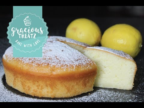 Lemon Sponge Cake Eggless | How to do video