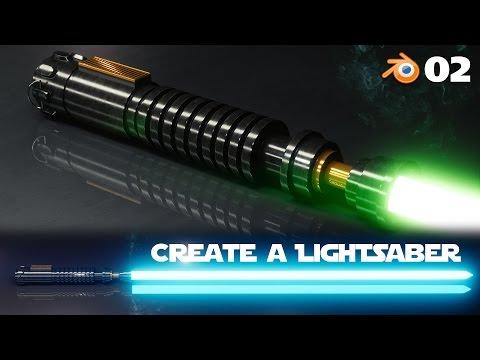 Blender Beginner Tutorial: Create a Lightsaber - 2 of 2