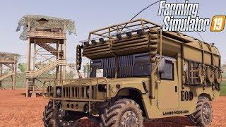 BUILDING MILITARY BASE ON FS19 | HUMVEE + TANKS | FARMING SIMULATOR