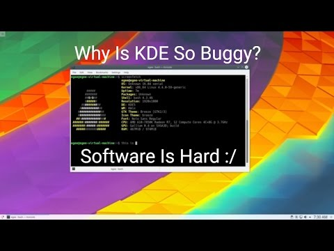 Why Is KDE So Buggy?