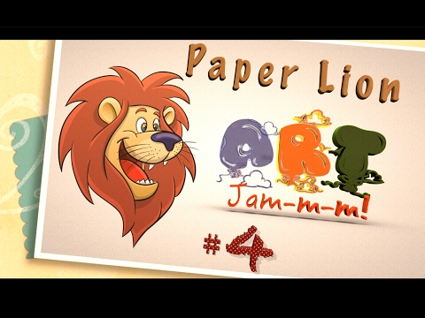 Art Jam#4   How to make a paper lion  Easy method