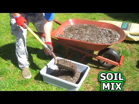 Container Garden Soil Mixture made from Scratch How i Make Patio Gardening Raised Bed Vegetable