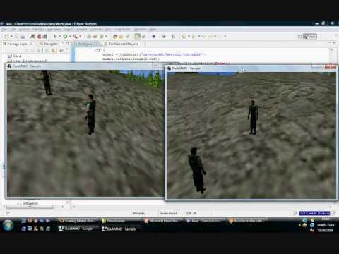 Java MMO game engine using Darkstar and JMonkey