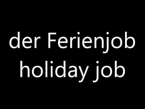 Englisch Lernen:  Arbeit und Berufe