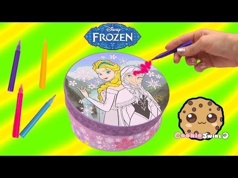Disney Frozen Decorate Stationery Box Color Queen Elsa + Princess Anna + Blind Bag Surprise