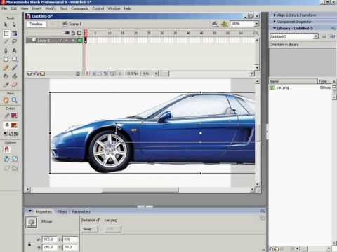 How to create simple animation in adobe flash Car Moving tutorials