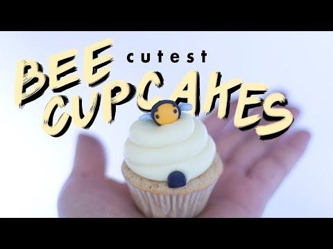 how to make bee cupcakes | vegan