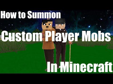 How to Get Custom Player Mobs || Vanilla Minecraft [Muskie]