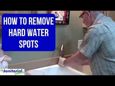 Remove hardwater deposit from faucet