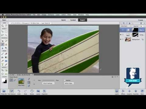 Color Change with Smart Brush in Photoshop Elements 11