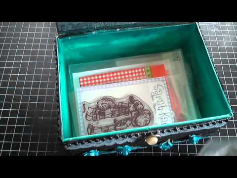 SCRAPBOOKING PROJECT SHARE - ALTERED CIGAR BOXES FOR STORAGE