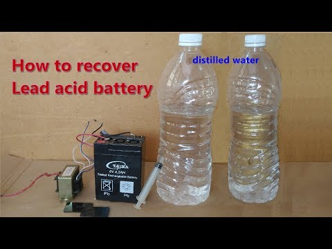 How to recover | repair old death lead acid battery