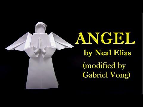 Origami ANGEL by Neal Elias (modified by Gabriel Vong)  - Yakomoga Origami tutorial