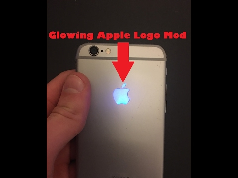 iPhone Mod - Glowing Apple Logo |How To| DIY