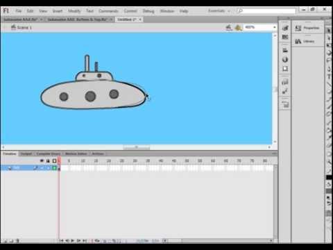Flash CS6 Tutorial 26 Submarine Game