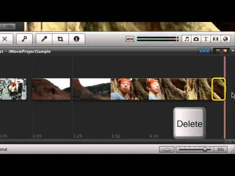 iMovie - Delete Unwanted Segments from the Timeline