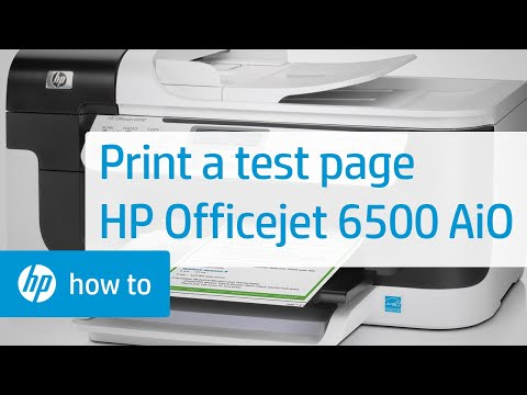 Printing a Test Page - HP Officejet 6500 All-in-One