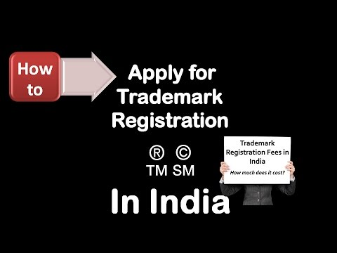 How to apply for trademark registration in india?