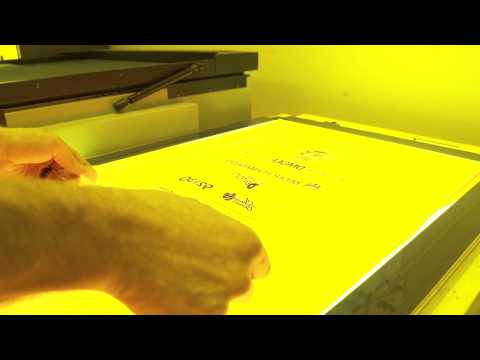 How to screen print: Burning a screen for an automatic screen printing press
