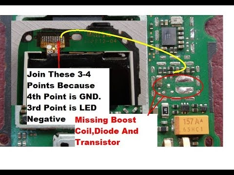 Nokia C2-00,C1-01 Display Light Solution Without IC (Transistor,Boost Coil And Diode)PART -2