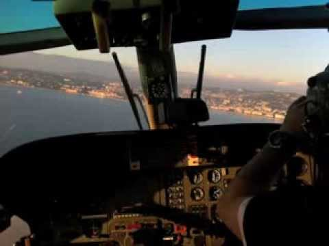 Helicopter to Cannes - Nice, France.