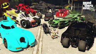 GTA 5 - Stealing Batman All Vehicles With Joker | Trevor Becomes Joker | (Real Life Cars #93)