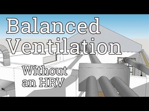 Balanced Ventilation w/o an HRV