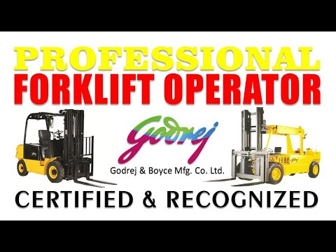 Forklift Operator Recognized & Certified Professional
