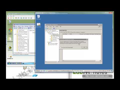 LabMinutes# SEC0029 - Windows 2008 CA User and Computer Certificate Auto-Enrollment