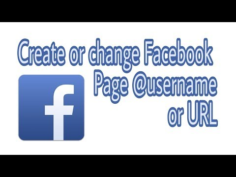 How to Create or Change Facebook Page @username or Page URL