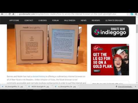 How to load e-books on the Nook Glowlight Plus