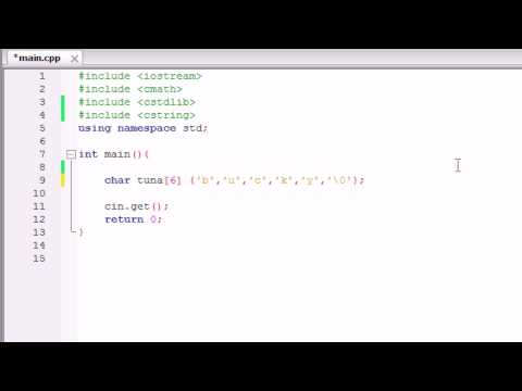 C++ Programming Tutorial - 12 - char Array