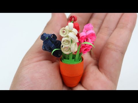 DIY: Quilling Miniature 3D Flower Pot ⚱ How to Make Flower Pot With Quilling Paper - Paper Quilling