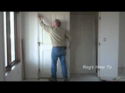 How To Install Prehung Interior Double Doors Video