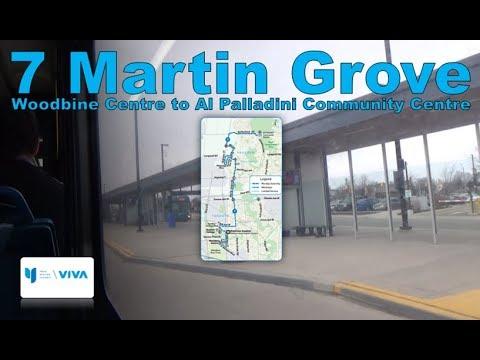 7 Martin Grove - YRT 2003 New Flyer D40LF 321 (Woodbine Centre to Al Palladini Community Centre)