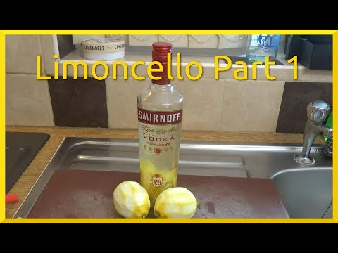 How to Make Limoncello Part 1 of 2