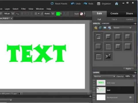 Apply a Text Border in Photoshop Elements