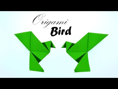 Origami Easy Bird 🐦 How to Make an Origami Flapping Bird/Simple Paper Bird for kids - Paper Work