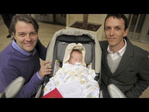 Gay couple's baby a first in Argentina