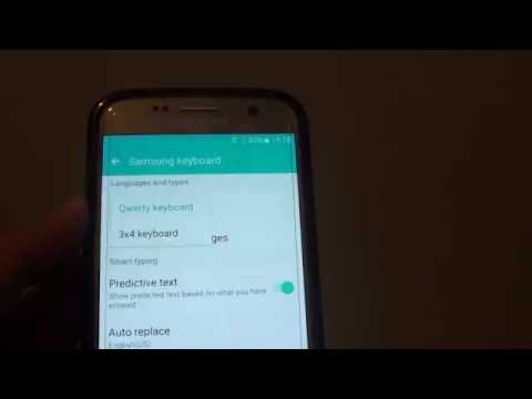 Samsung Galaxy S7: How to Change Keyboard to Qwerty or 3x4