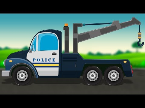 Police Tow Truck | Formation and uses | Police Vehicles for Children