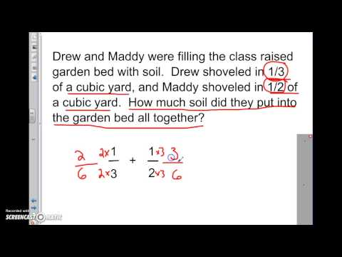 Adding and subtracting unlike fractions word problems