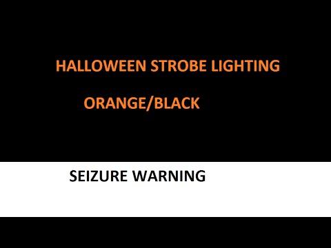 Halloween Strobe Light Orange Black 1 Hour SLOW Seizure Warning