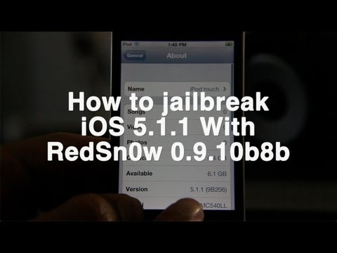 Jailbreak iOS 5.1.1 with RedSn0w