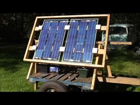 Homemade solar charging trailer