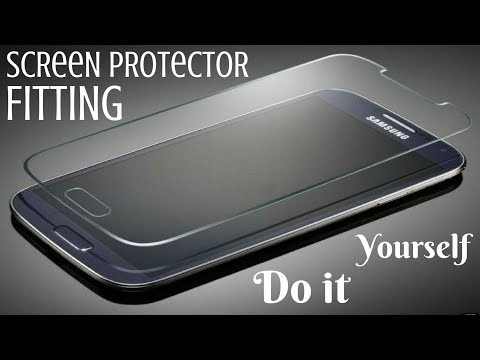 DIY How To Fit A Tempered Glass Screen Protector Smart Phone Installatng Perfect Fitting No Bubbles