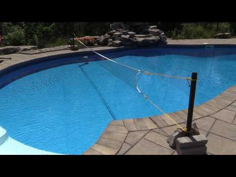 DIY Swimming Pool Volleyball Net